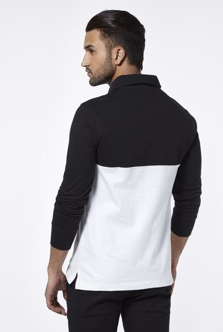 Provogue Black Polo T Shirt