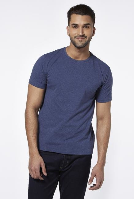 Provogue Navy Crew T Shirt