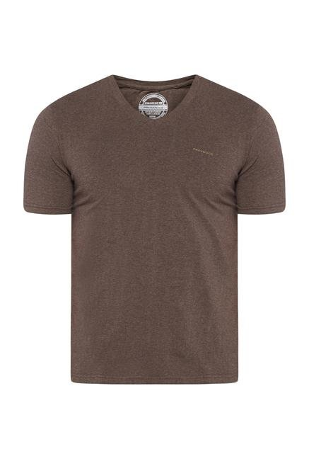 Provogue Beige V Neck T Shirt