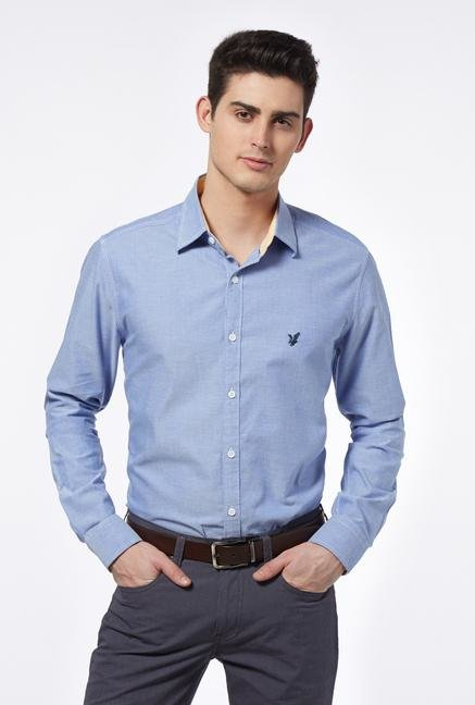 Provogue Blue Cotton Shirt