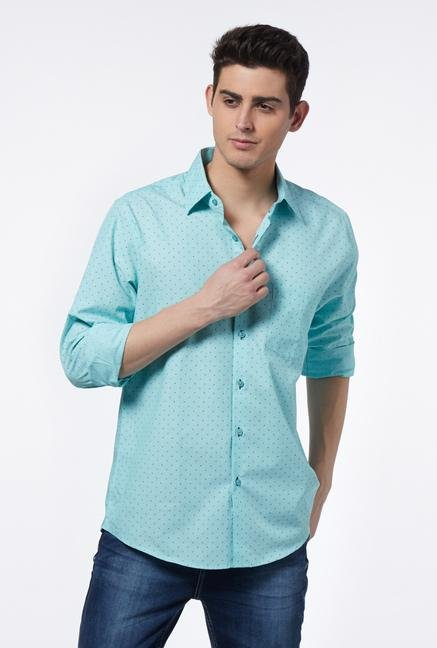Provogue Blue Slim Fit Shirt