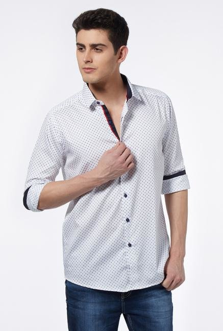 Provogue White Slim Fit Shirt