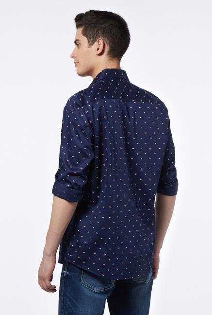 Provogue Navy Slim Fit Shirt