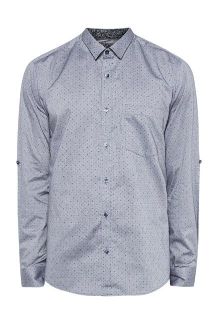 Provogue Grey Slim Fit Shirt