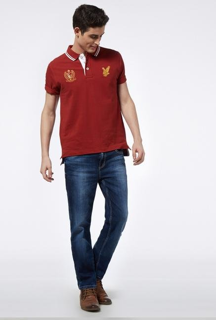 Provogue Red Ochre Polo T Shirt