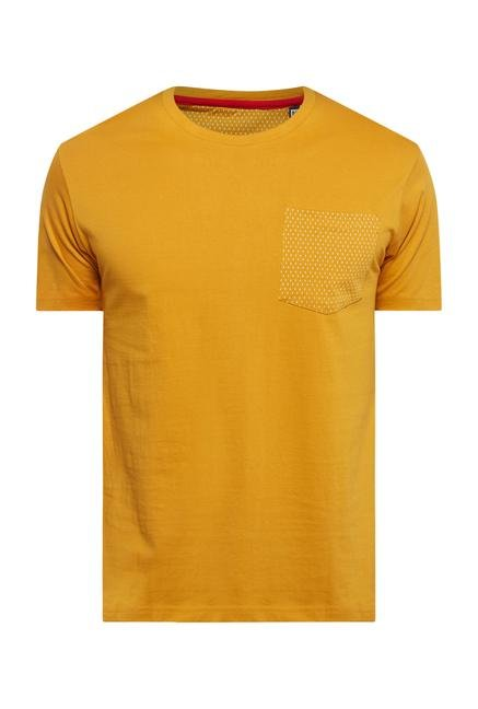 Provogue Mustard Crew T Shirt