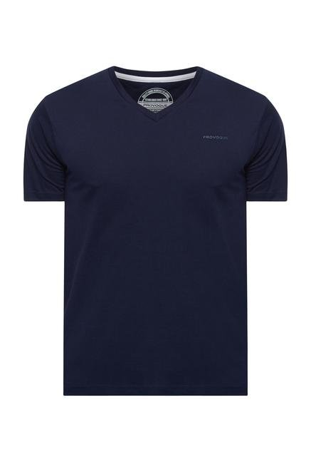 Provogue Navy V Neck T Shirt