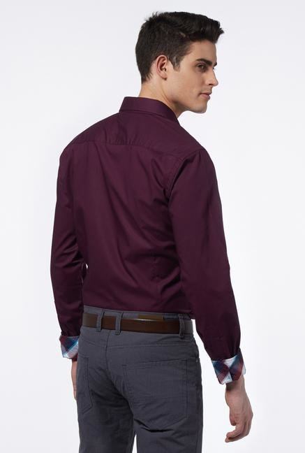 Provogue Purple Slim Fit Shirt