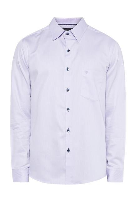 Provogue Purple Cotton Shirt