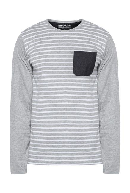 Provogue Grey Crew T Shirt