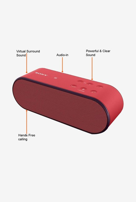 Sony SRS-X2/RC Bluetooth Speaker (Red)