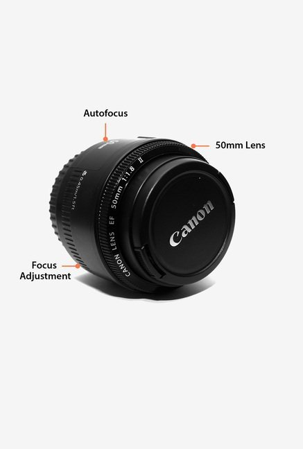 Canon EF 50mm f/1.8 STM Lens (Black)