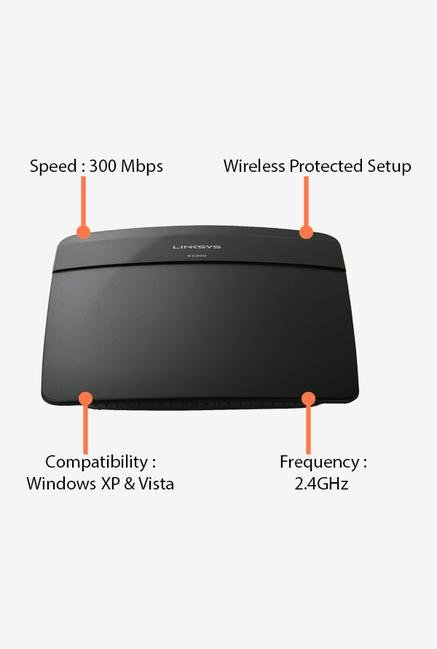 Linksys E1200 Router Black