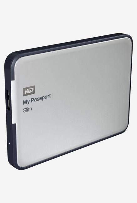 WD My Passport Slim 1 TB Hard Disk (Silver)