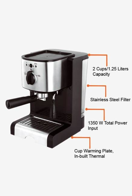 Croma CRAK0027 1.25 Litres Coffee Maker (Black)