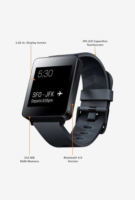LG W100 Smart Watch Black