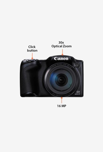 Canon PowerShot SX400 IS 16 MP Point & Shoot Camera (Black)