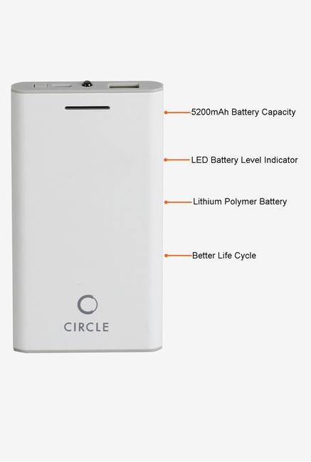 Circle CLP5200 Power Bank White