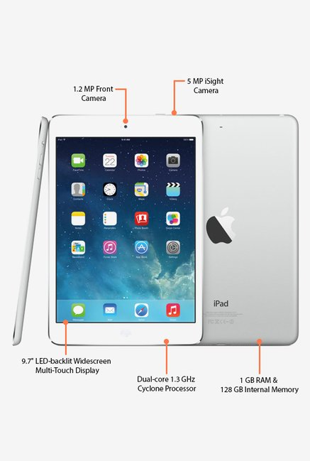 Apple A1475 Wi-Fi + Cellular, 128GB iPad Air (Silver)
