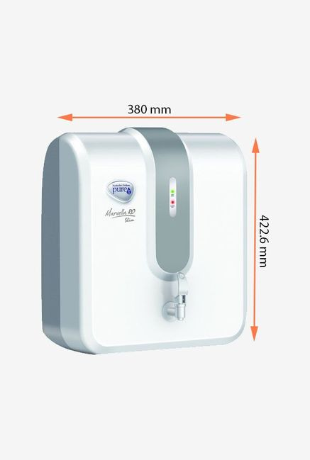 Pureit Marvella Slim 4L RO Water Purifier (White & Grey)