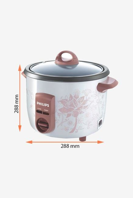 Philips HD4711/60 1L 550W Electric Rice Cooker (White)