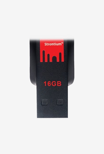 Strontium SR16GRDPOLLEX 16 GB Pen Drive Black and Red