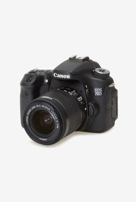 Canon EOS 70D with (EF-S18-55 IS STM Lens) DSLR Camera Black