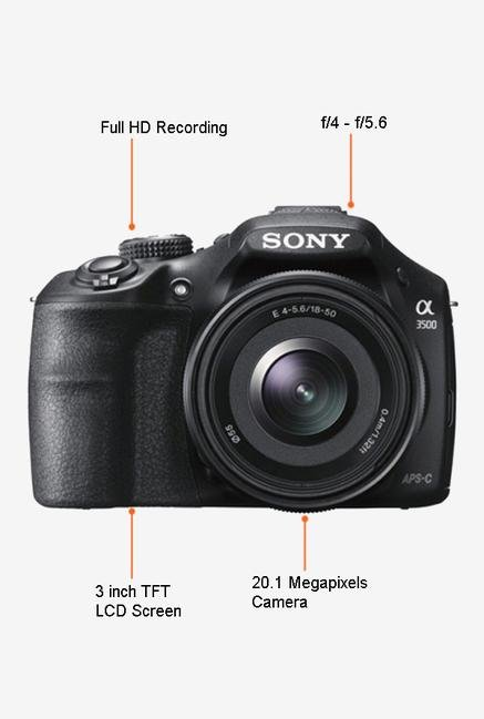 Sony ILCE-3500J  DSLR Camera (Black)