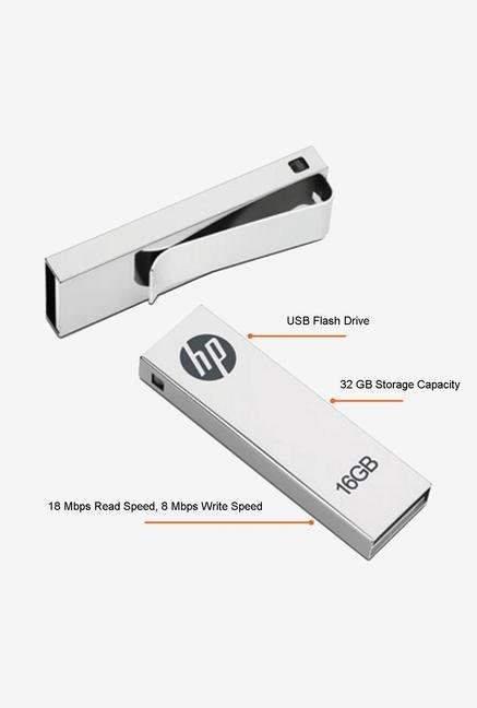 HP V210W 32 GB Pen Drive Silver