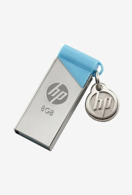 HP v215b 8 GB USB Flash Drive Silver and Blue