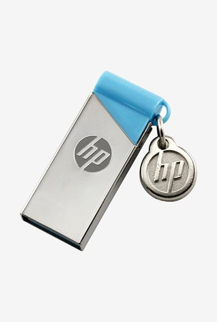 HP v215b 16GB USB Flash Drive Silver and Blue