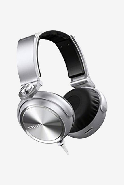Sony MDR-XB910A On the Ear Headphone Silver