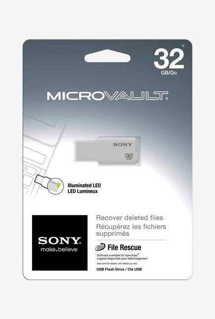 SONY USM32GM/W Micro Vault Tiny Pen Drive White