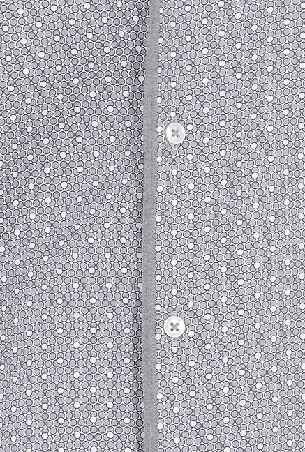 Basics Grey Dotted Formal Shirt