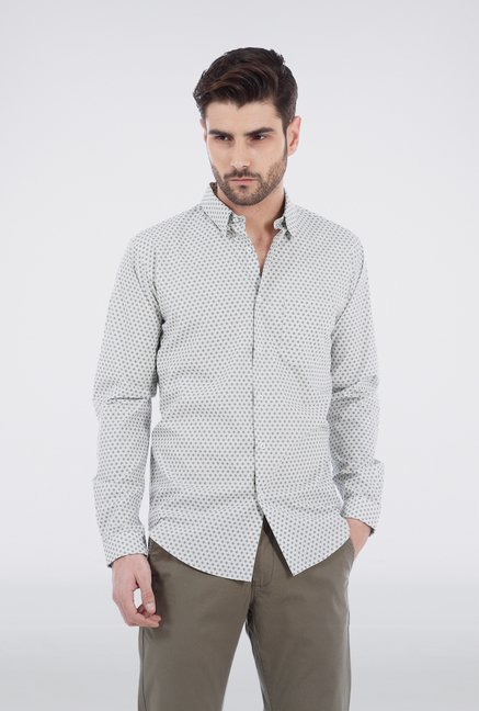 Basics Green Dotted Shirt