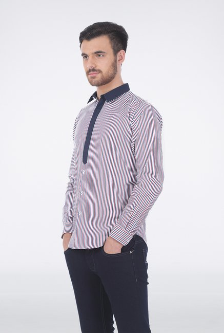 Basics Red & Blue Stripe Shirt