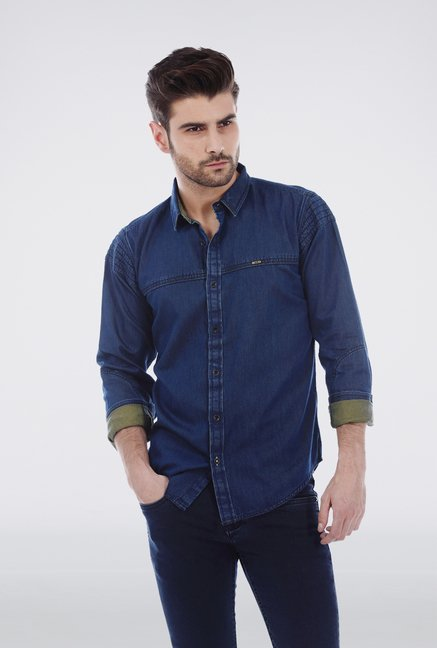 Basics Navy Denim Shirt