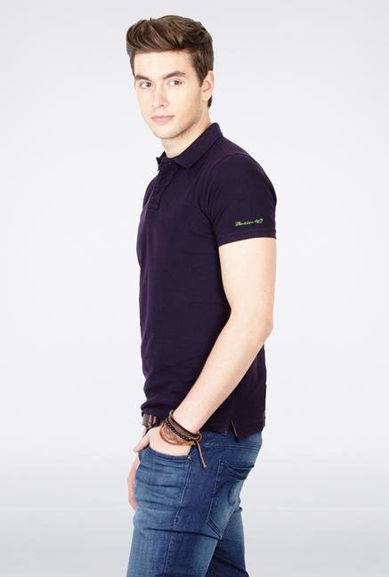 Basics Purple Polo T Shirt