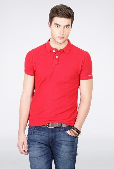 Basics Red Polo T-Shirt
