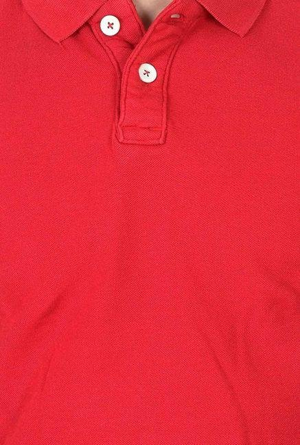 Basics Red Polo T Shirt