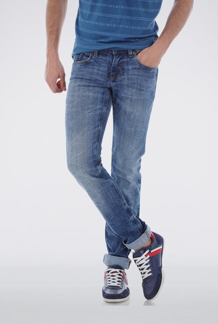 Basics Blue Vintage Wash Jeans