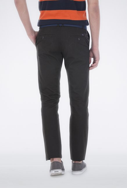 Basics Black Ribbed Trouser