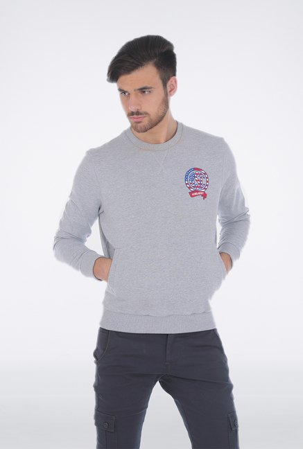 Basics Grey Cotton Pullover