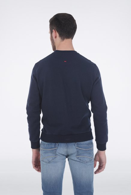 Basics Navy Cotton Pullover