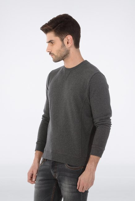 Basics Dark Grey Knit Pullover