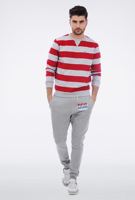 Basics Red Striped Pullover