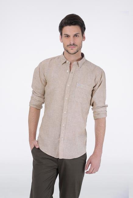 Basics Beige Casual Shirt