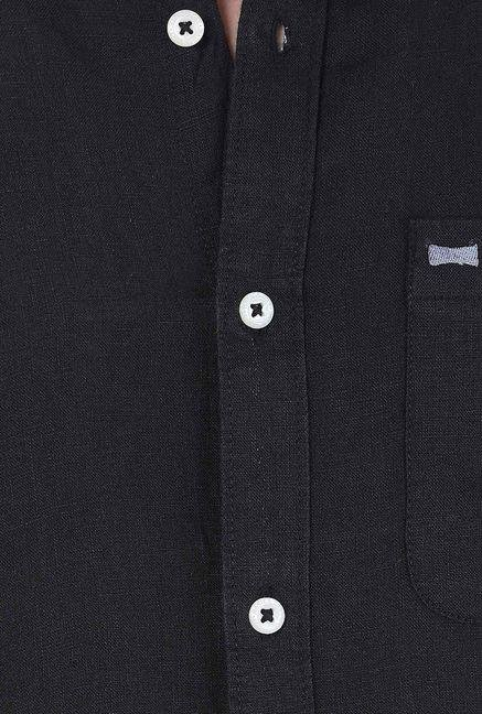 Basics Jet Black Casual Shirt