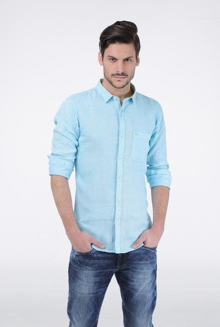 Basics Aqua Casual Shirt