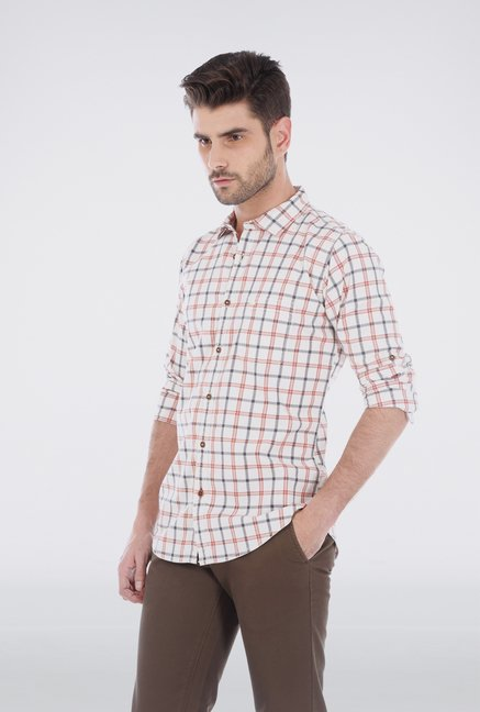 Basics White Sheperd Check Shirt